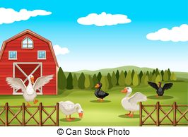 Barn clipart farm land And Vector barn farmland Clip