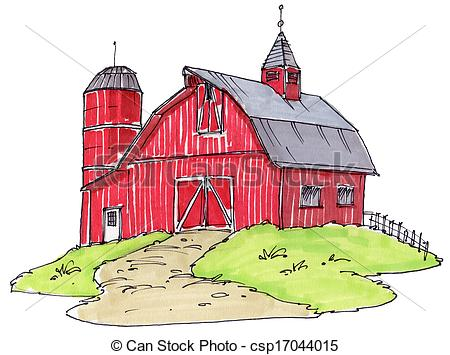 Structure clipart old barn Csp17044015 barn of old red
