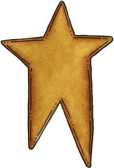 Barn clipart primitive Primitive star  5