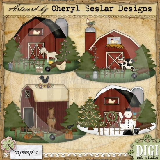 Barn clipart primitive Exclusive 21 Cheryl PRIMITIVE best