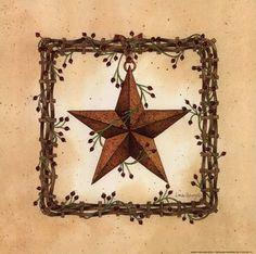 Barn clipart primitive Country Barn Primitive star Cliparts