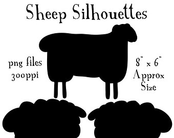 Barn clipart primitive Sheep Silhouettes Clipart art Animal