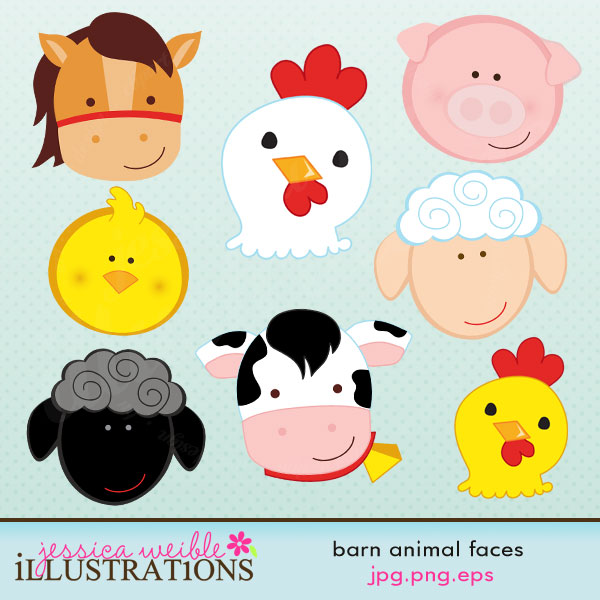 Barn clipart farm land  graphics cute set set