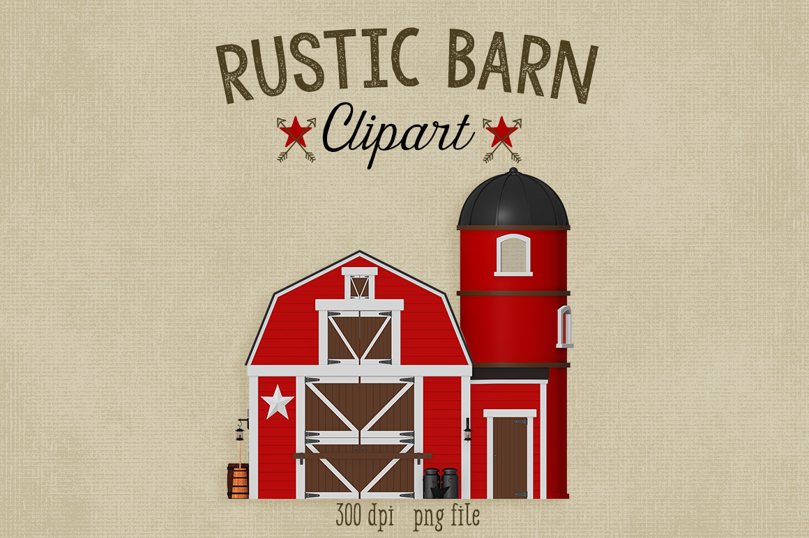 Barn clipart cow shed Cliparts Clipart Old on Barn