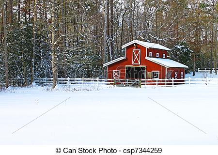 Barn clipart snowy Horse Photographs barn in in