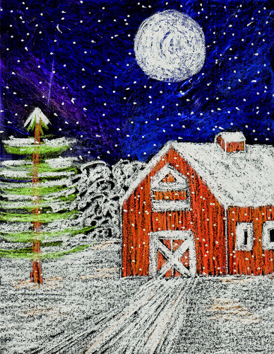Barn clipart snowy In Barn Snow Christmas Stushie