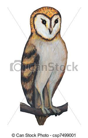 Barn Owl clipart Of Illustration style illustration owl