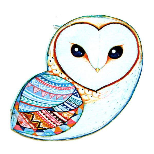 Drawn owl wood Vinyl With Themed Geometric With