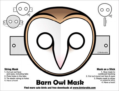 Barred Owl clipart cartoon halloween Owl Best 25+ on mask