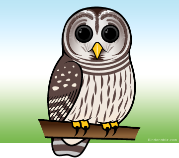 Barred Owl clipart cartoon halloween The  by Owl Cute