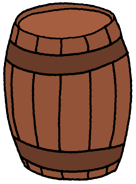 Pirate clipart barrel #11