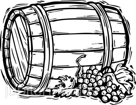 Barrel clipart black and white #10
