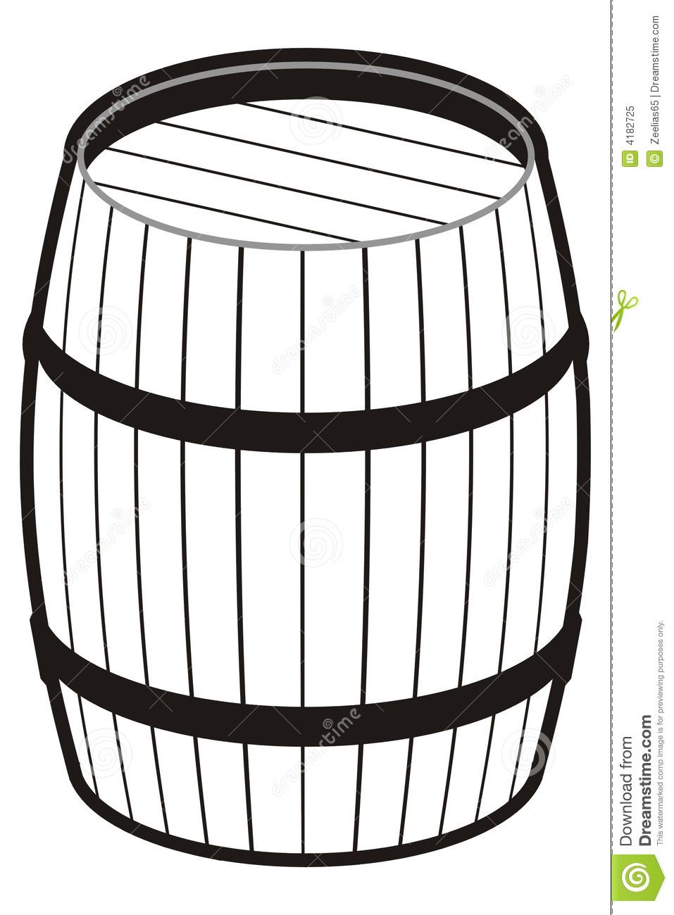 Barrel clipart black and white #8
