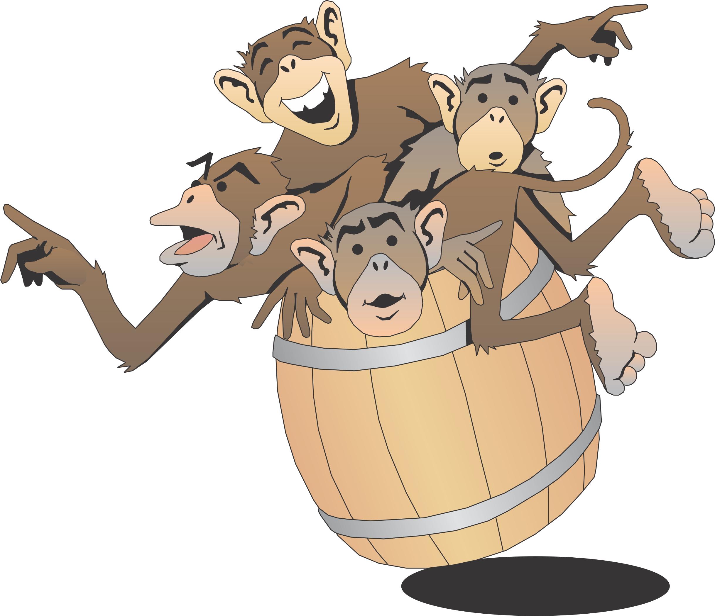Barrel clipart monkey Is at Fun Monkeys Barrel