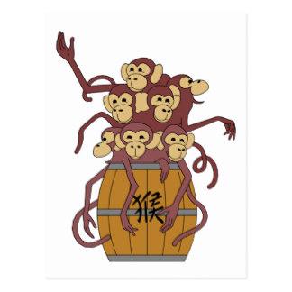 Barrel clipart monkey Full Postcard Zazzle Monkeys Barrel