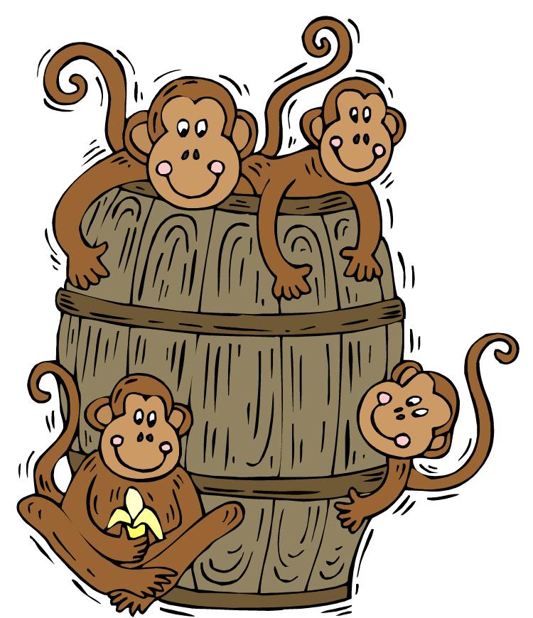 Barrel clipart monkey Of Art Clip Barrel clip