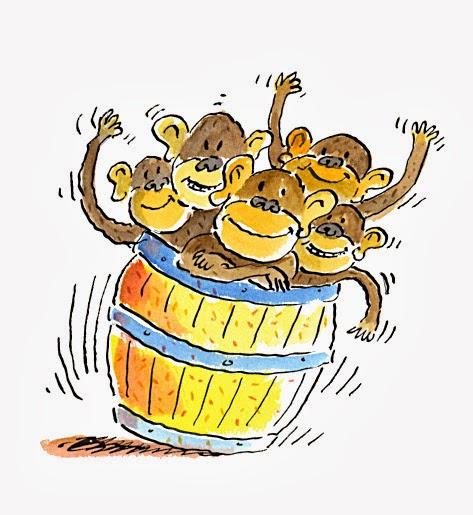 Barrel clipart monkey Clipart Monkeys Full  Barrel