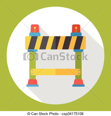 Barrier clipart Flat icon csp34175108 Clipart Roadblocks
