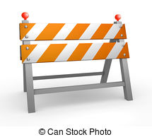 Barrier clipart cartoon Of Road  barrier background