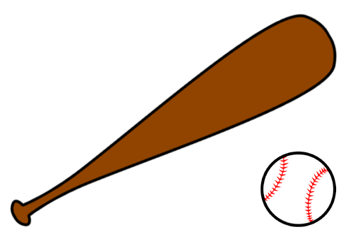Small clipart baseball bat Clipart bat clipart free Crossed