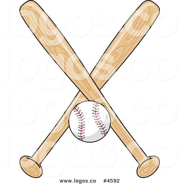 Baseball Bat clipart ball And by #4592 Ball Royalty