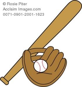 Baseball clipart baseball glove Glove Bat and Baseball of