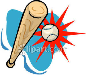 Baseball clipart baseball hit Ball Ball bat clipart Baseball