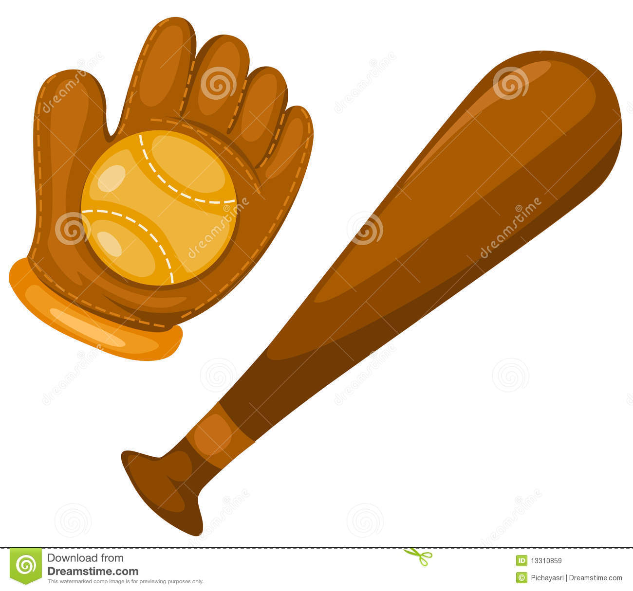 Bat clipart baseball mitt And clipart Glove Bat Baseball