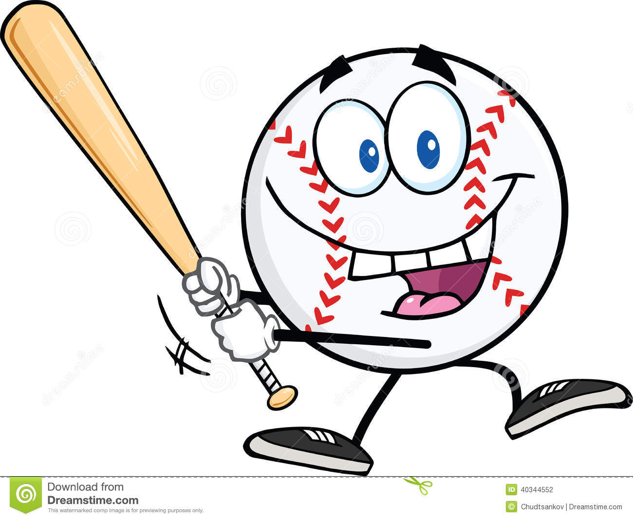 Bat clipart happy Clipart baseball – clipart game