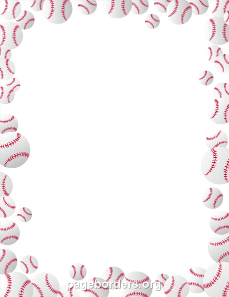 Baseball clipart boarder Border Sports Borders Vector ·
