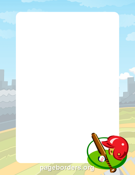 Baseball clipart frame Borders: Free Baseball and Vector