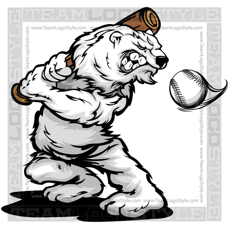 Baseball clipart bear Vector Clipart Bat Polar