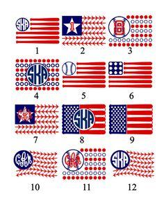 American Flag clipart baseball VinylDezignz Baseball Flag Clipart Bat