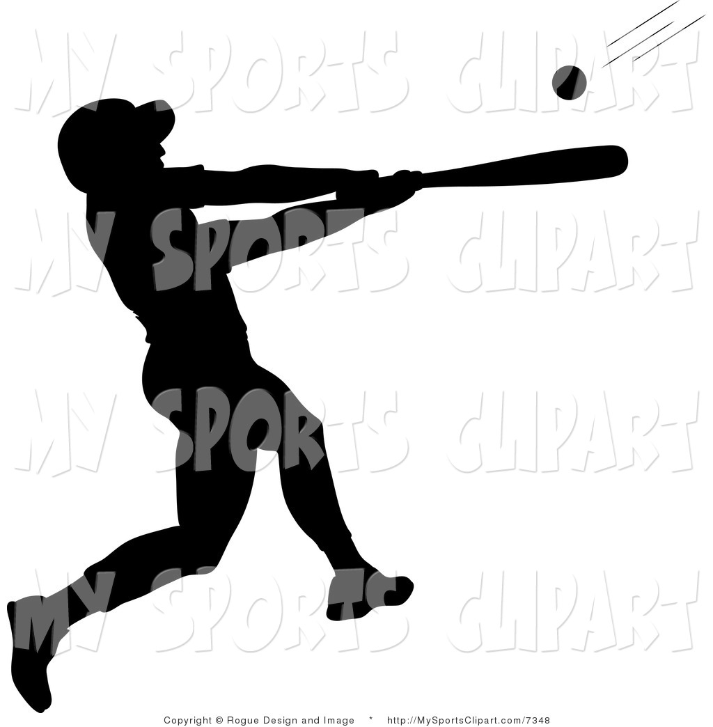 Sport clipart silhouette Sports Sports Batter of of