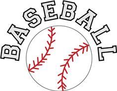 Word clipart baseball Clipart baseball art images softball