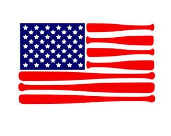Baseball clipart american flag #15