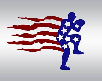 Baseball clipart american flag #12