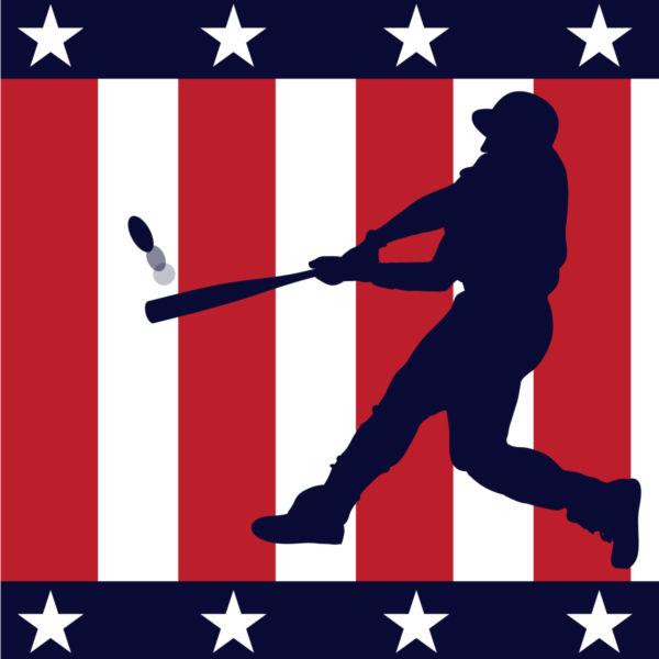 Baseball clipart american flag #9