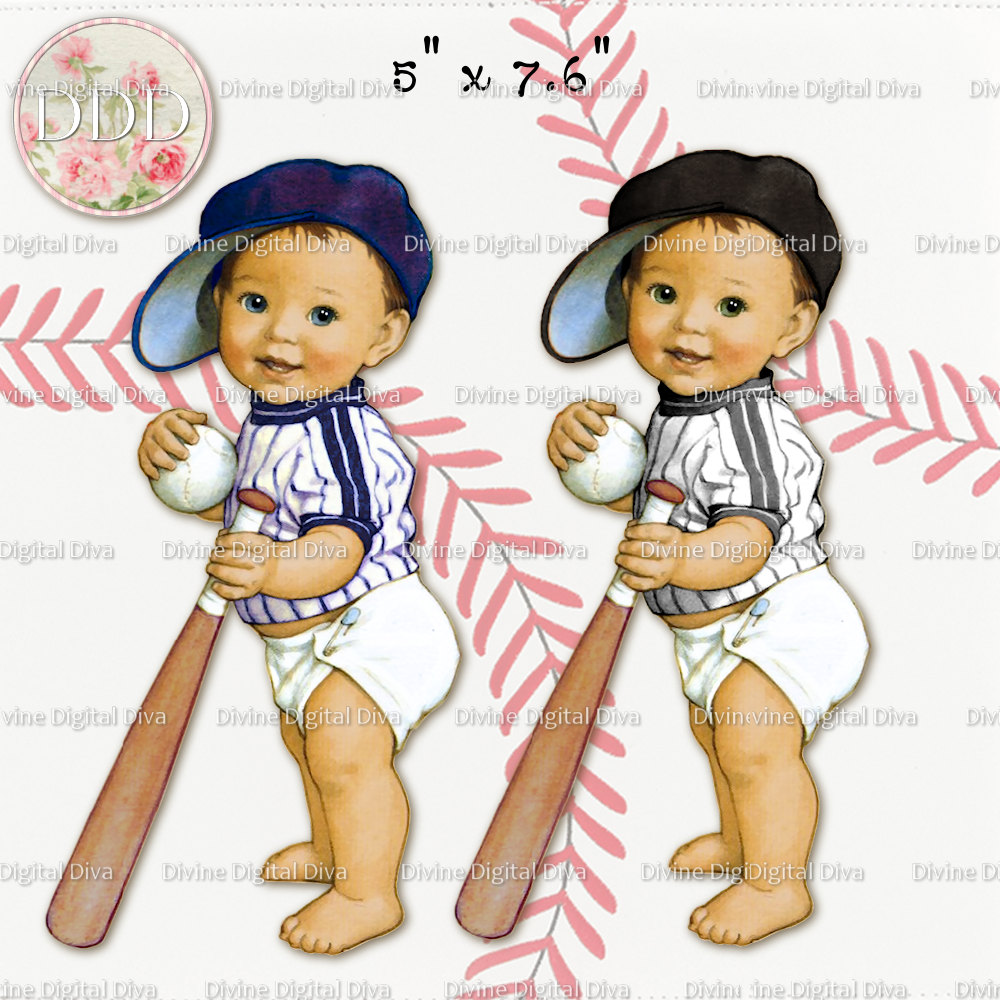 Baseball clipart baby boy Baby Colors Vintage Outfit Boy