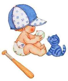 Baseball clipart baby boy On BEBÉS niñas bebes more