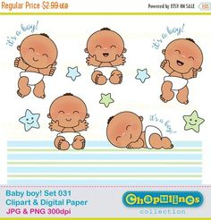 Baseball clipart baby boy Clip Digital Paper Cowboy Set