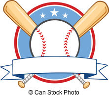 Baseball clipart banner Shield Two Illustration With Ball