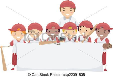Baseball clipart banner Illustration Banner a Team Clipart