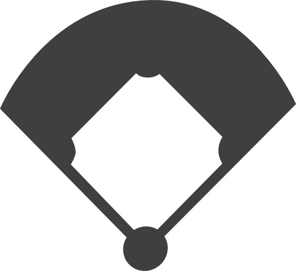 Baseball clipart baseball base Field Baseball  Panda White