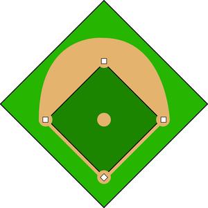 Baseball clipart baseball base With Baseball Diamond  Bases