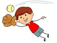 Baseball clipart baseball catch Player clipart bat Free Baseball