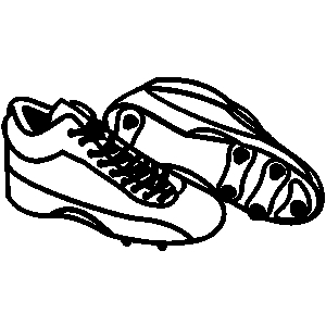 Baseball clipart baseball cleat Collection vector Football cleats clipart