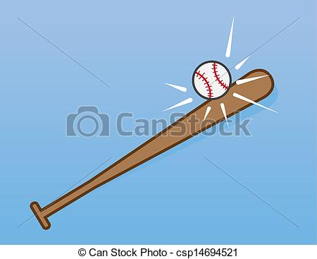Baseball clipart baseball hit Csp14694521 Baseball hitting Hitting Vector