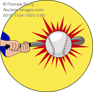 Baseball clipart baseball hit Baseball of Burst Star of
