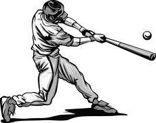 Baseball clipart baseball swing Clipart batting player Baseball player